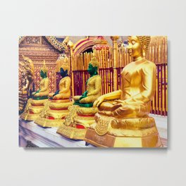 Golden Temple Buda Metal Print