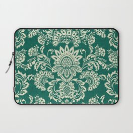 Damask vintage in green Laptop Sleeve