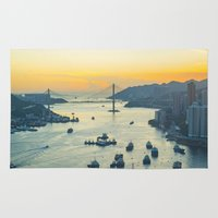 hong kong Area & Throw Rugs featuring Hong Kong by Rothko