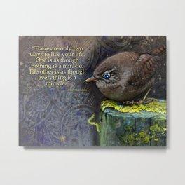 Sometimes you need a miracle by Barbara Kilgore Metal Print