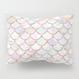 Pastel Memaid Scales Pattern Pillow Sham