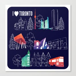 I heart Toronto (navy) Canvas Print