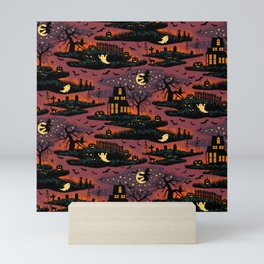 Halloween Night - Bonfire Glow Mini Art Print