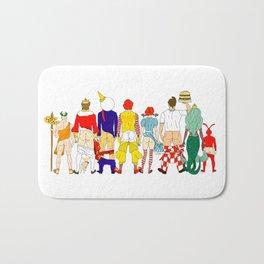 Fast Food Butts Mascots Bath Mat