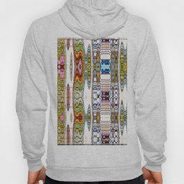 Kaleidoscope Rivers on White Background Hoody