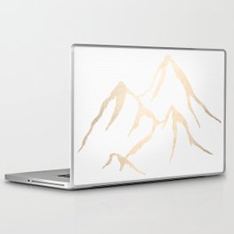Adventure White Gold Mountains Laptop & iPad Skin