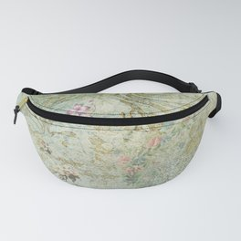 Vintage French Floral Wallpaper Fanny Pack