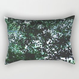 Tops of the leaves of trees silhouettes Rectangular Pillow