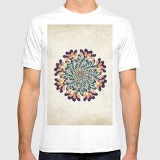 Maple Samaras Flower Mandala Mens Fitted Tee White MEDIUM