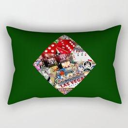 Diamond Playing Card Shape - Las Vegas Icons Rectangular Pillow