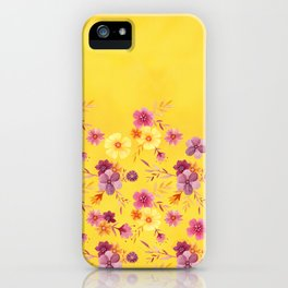 Golden // Sunny Floral Print iPhone Case