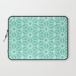 Asanoha Pattern - Mint Laptop Sleeve