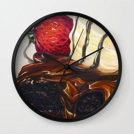 hot fudge brownie Wall Clock