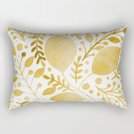Branches and leaves - yellow Rectangular Pillow