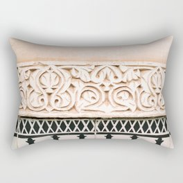Graphic tile pattern | Moroccan Arabic tiles in earth tones. | Pastel film marrakech photography Rectangular Pillow