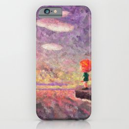 Animal Crossing: New Horizons Sunset Vista Impressionist Painting iPhone Case