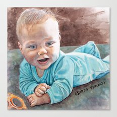 Tummy Time Canvas Print