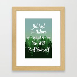 Lost In Nature - Green Framed Art Print
