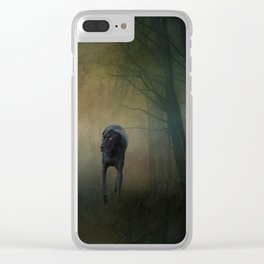 The Hound In The Woods Clear iPhone Case