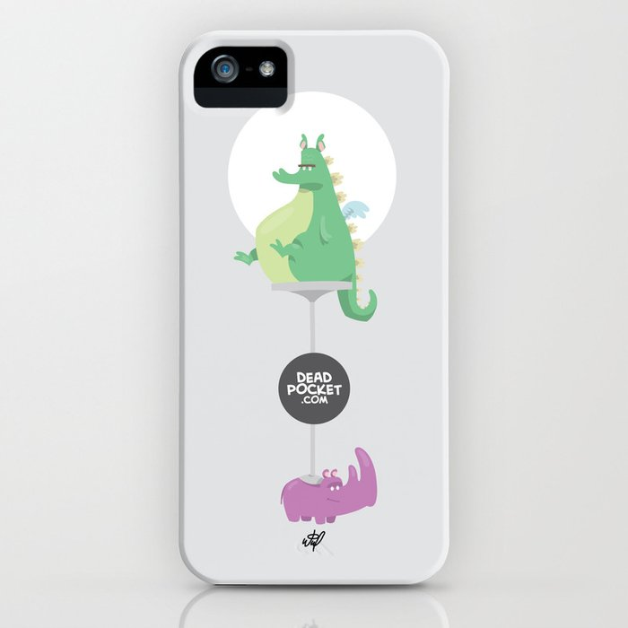 Dragons Ride Rhinos iPhone Case