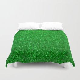 Emerald Green Shiny Metallic Glitter Duvet Cover