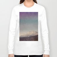mountain Long Sleeve T-shirts featuring Mountain by Leah Flores