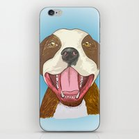 pit bull iPhone & iPod Skins featuring Pit Bull Pride by Kat Lyon