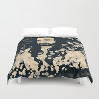 fireflies Duvet Covers featuring fireflies by ladynorthstar
