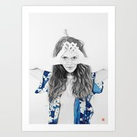dragonfly Art Prints featuring DRAGONFLY by lantomo