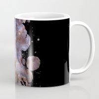 cosmos Mugs featuring Cosmos by Spooky Dooky