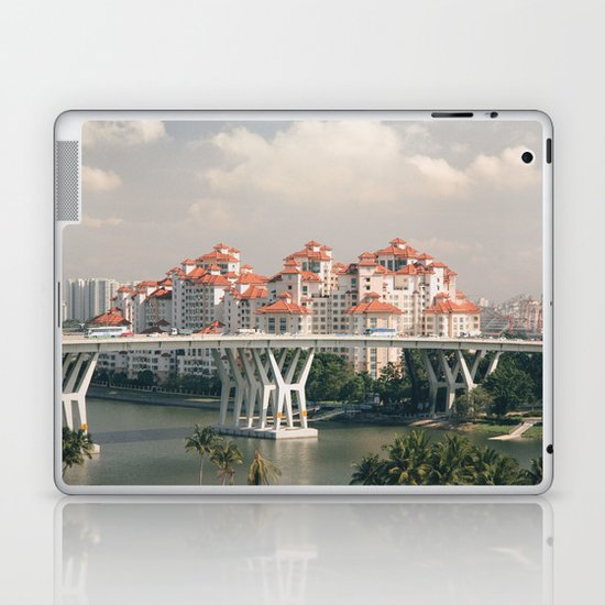 Red rooftops Laptop & iPad Skin