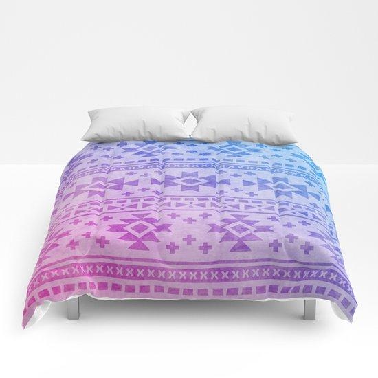Aztec Pattern 04 Comforters