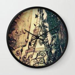 Paris Rain Wall Clock