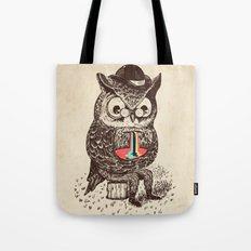 Strange Owl Tote Bag