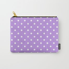 Lilac with White Polka Dots Carry-All Pouch