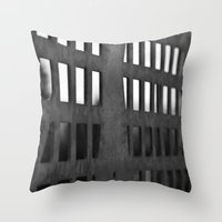 metal Throw Pillows featuring Metal by CarienMoore