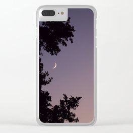 Smile Moon Clear iPhone Case