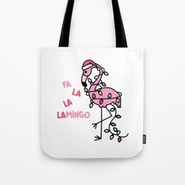 Christmas Flamingo Tote Bag