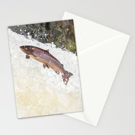 Leaping Atlantic salmon salmo salar Stationery Cards