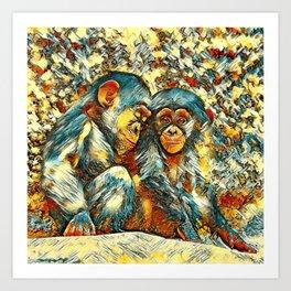 AnimalArt_Chimpanzee_20170601_byJAMColorsSpecial Art Print
