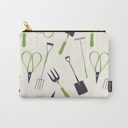 Jumbled Garden Tools Carry-All Pouch