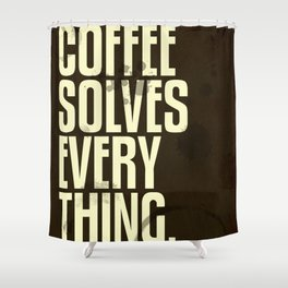 Coffee 2: Typography Shower Curtain