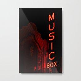 Music Box Arthouse Cinema Lakeview Chicago Metal Print