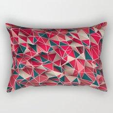 Abstract Red Rectangular Pillow