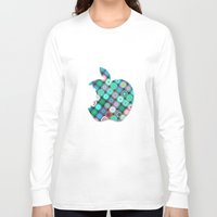 apple Long Sleeve T-shirts featuring APPLE by Monika Strigel
