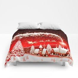 Santa Beautiful Christmas Comforters