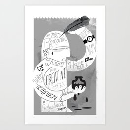 Penmanship Art Print