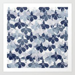 Abstract flower pattern 2 Art Print