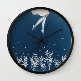 dancing in the blue Wall Clock