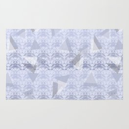 Floral Lace Collection - Blue Rug